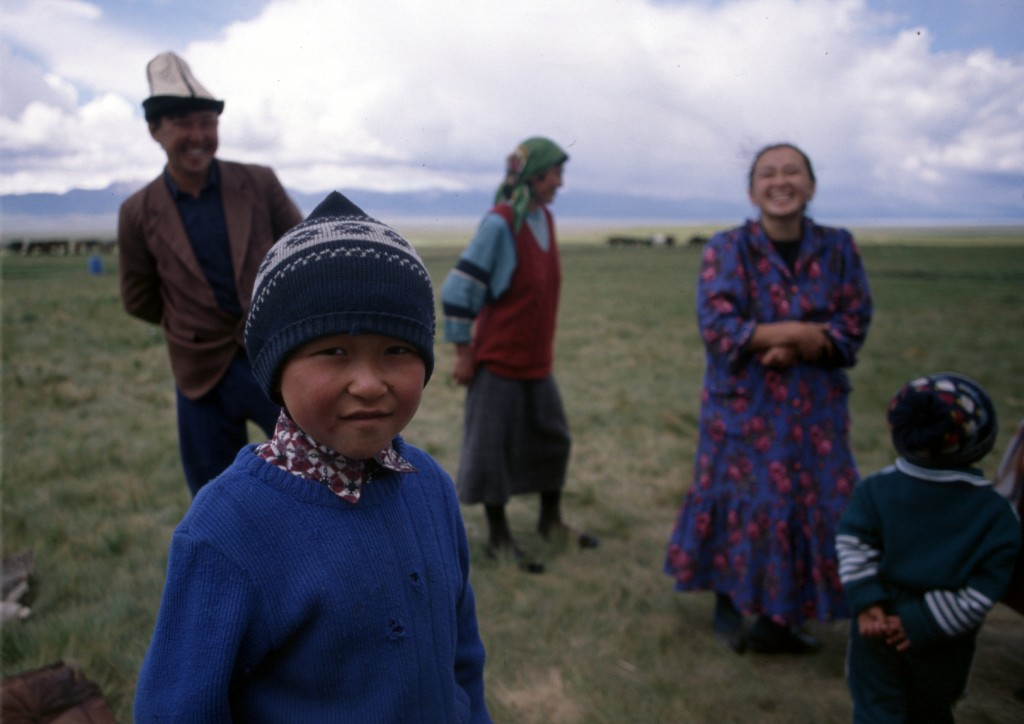 Yurt residents, Son-köl, Kyrgyzstan