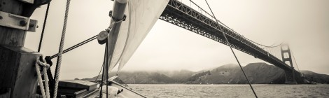Sailing a close reach, San Francisco Bay. (Image copyright Nathaniel Pearson)